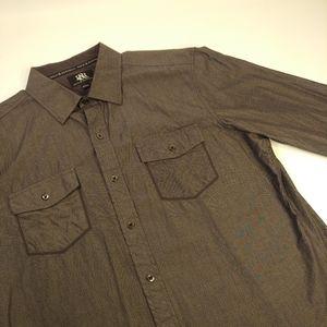 Rock & Republic Men's Large Black Button Up Shirt